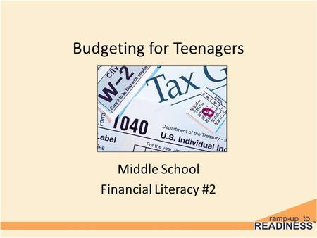 Budgeting for Teenagers Middle School Financial Literacy #2.