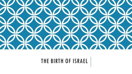 THE BIRTH OF ISRAEL. BACKGROUND The British had to determine how to make the Mandate of Palestine into a new country Zionists wanted a Jewish homeland.