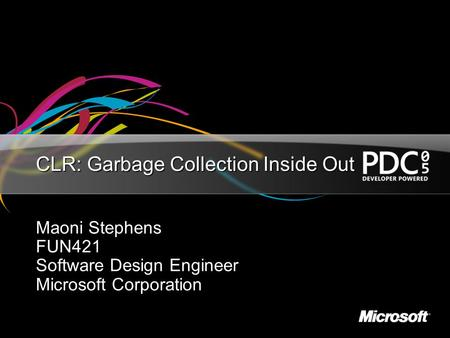 CLR: Garbage Collection Inside Out