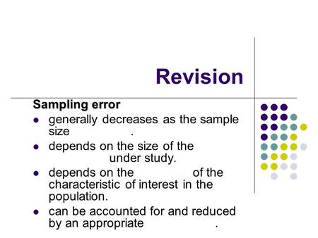 Revision Sampling error