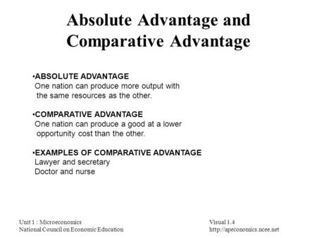 competitive advantage and comparative advantage Comparative advantage is a dynamic concept meaning that it changes over time   countries wanting to build a competitive advantage in information-intensive.