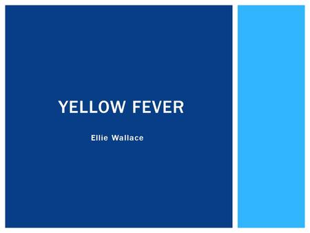 Ellie Wallace YELLOW FEVER. CASE STUDIES Sarah CASE STUDIES UmohSarah.
