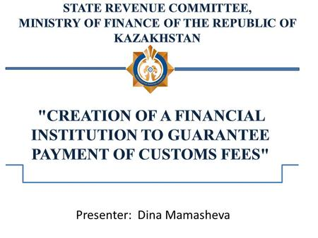 Presenter: Dina Mamasheva. The 1997 Address of the President of the Nation to the people of Kazakhstan Kazakhstan - 2030: Prosperity, Security and Ever.