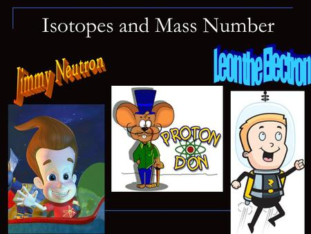 Isotopes and Mass Number. Atomic Number The number of protons in each atom identifies it as an atom of a particular element Each atom has a unique number.