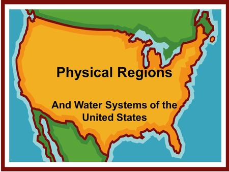 And Water Systems of the United States