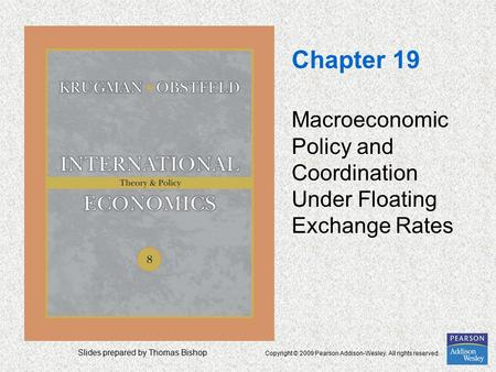 Slides prepared by Thomas Bishop Copyright © 2009 Pearson Addison-Wesley. All rights reserved. Chapter 19 Macroeconomic Policy and Coordination Under Floating.