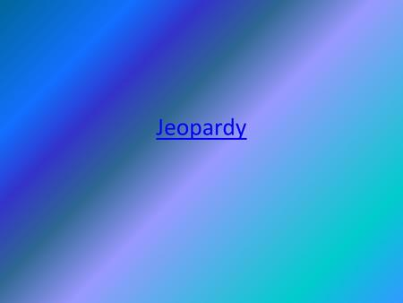 Jeopardy. Photosynthesis Cell Transportation Cell Cycle RespirationOther topics 100 200 300 400 500.