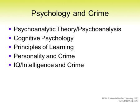 the concept of the theories of criminal behavior