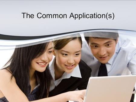 The Common Application(s). What is a Common Application? Very simply, a common application is an application that multiple colleges agree to. You fill.