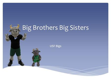 Big Brothers Big Sisters USF Bigs. Big Brothers Big Sisters mission is to provide children facing adversity with strong and enduring, professionally supported.