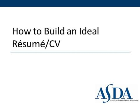 "How to Build an Ideal Résumé/CV. ""Your finished product should be a finely tuned marketing instrument that reflects who you truly are and attracts readers."