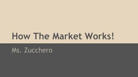 How The Market Works! Ms. Zucchero. Pseudo Stock Market Account Summary Terms: Available Cash – Amount of cash in your account available for trading Withheld.