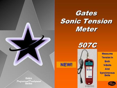 Gates Professional Development Series Gates Sonic Tension Meter 507C NEW! Measures Tension in BothV-BeltsAnd Synchronous Belts.