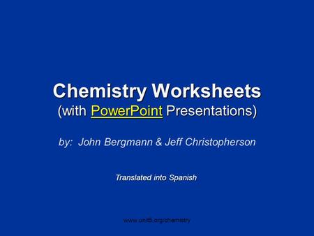 Chemistry Worksheets (with PowerPoint Presentations)