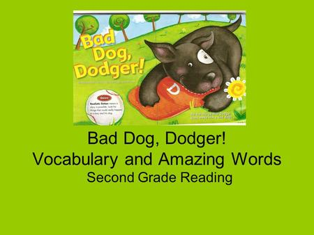 Bad Dog, Dodger! Vocabulary and Amazing Words Second Grade Reading.