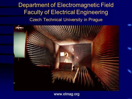 Department of Electromagnetic Field Faculty of Electrical Engineering Czech Technical University in Prague www.elmag.org.