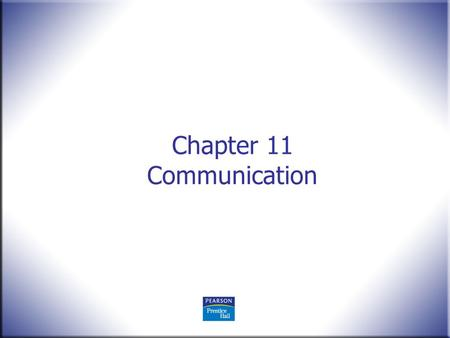 Chapter 11 Communication