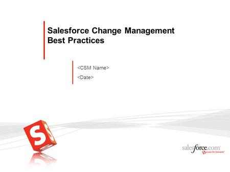 Salesforce Change Management Best Practices