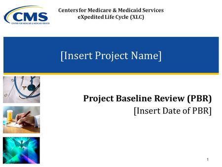 Centers for Medicare & Medicaid Services eXpedited Life Cycle (XLC) [Insert Project Name] Project Baseline Review (PBR) [Insert Date of PBR] 1.