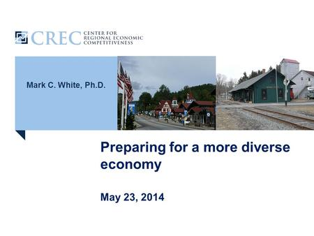 Mark C. White, Ph.D. Preparing for a more diverse economy May 23, 2014.