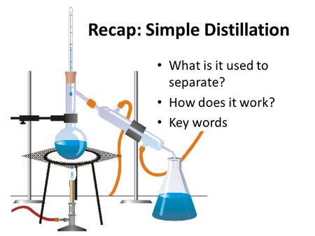 Recap: Simple Distillation