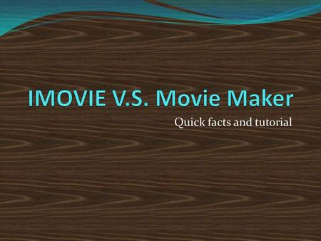 "Quick facts and tutorial. Steps to use Movie Maker Open a new file or movie. Then click ""Import video/photo/audio Drag the different sets of clips you've."