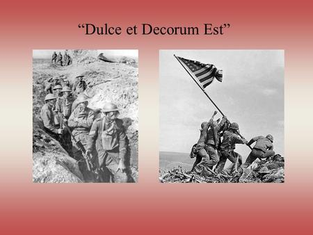 The literature of war part 1 ppt download for Decorum meaning
