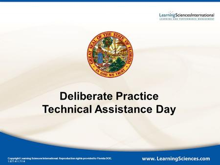 Deliberate Practice Technical Assistance Day