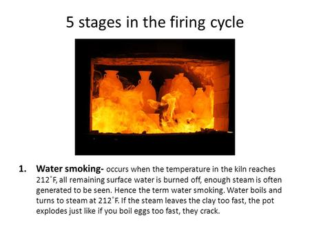 5 stages in the firing cycle