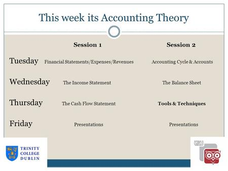 This week its Accounting Theory