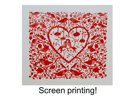 Screen printing!. You need a screen, a coating trough and screen emulsion.