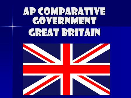AP Comparative Government Great Britain. Britian's Government Legitimacy The government of Great Britain has developed gradually, so that tradition is.