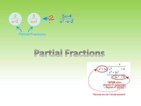 Introduction In this chapter you will learn to add fractions with different denominators (a recap) You will learn to work backwards and split an algebraic.