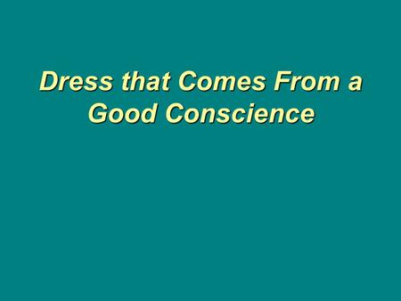 Dress that Comes From a Good Conscience Dress that Comes From a Good Conscience.