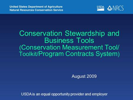 USDA is an equal opportunity provider and employer