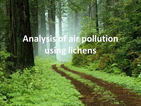 Analysis of air pollution using lichens. Lichens Lichens are composite organisms consisting of a symbiotic association of a fungus with a photosynthetic.
