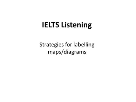 Strategies for labelling maps/diagrams