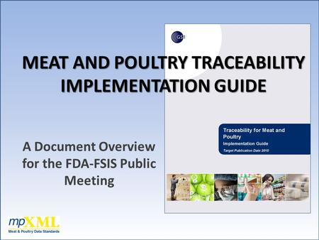 MEAT AND POULTRY TRACEABILITY IMPLEMENTATION GUIDE