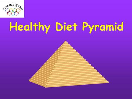 Healthy Diet Pyramid. A Balanced Diet is the basis of good health.