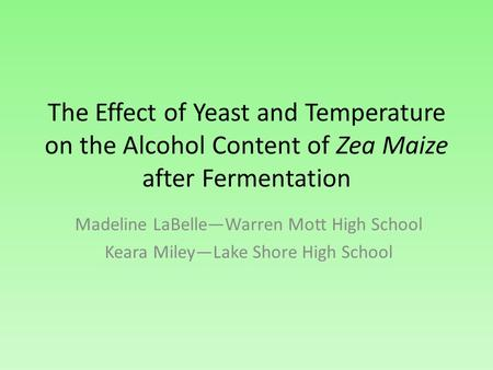 the effect temperature has on yeast fermentation Fermentation produces heat and can cause the temperature inside the fermenter to rise to unacceptable levels high fermentation temperatures tend to drive off volatile aromatic compounds and increase alcohol concentrations through evaporation alcohol inhibition on yeast growth has a greater effect at high temperatures.