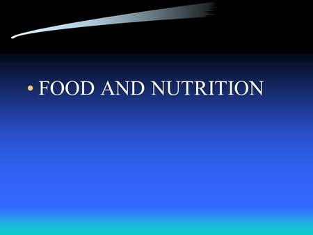 FOOD AND NUTRITION I. NUTRIENTS A. NUTRIENTS – SUBSTANCES IN FOODS THE BODY NEEDS IN ORDER TO GROW, HAVE ENERGY, AND STAY HEALTHY.