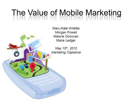 Mary-Kate Willette Morgan Powell Malorie Donovan Marie Ledger May 10 th, 2012 Marketing Capstone.