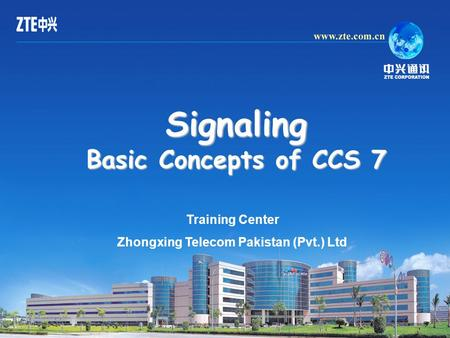 Signaling Basic Concepts of CCS 7 Training Center