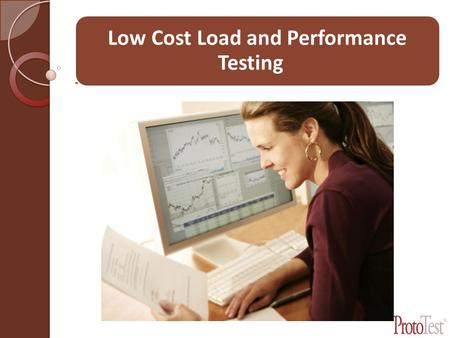 Low Cost Load and Performance Testing. Example Test.