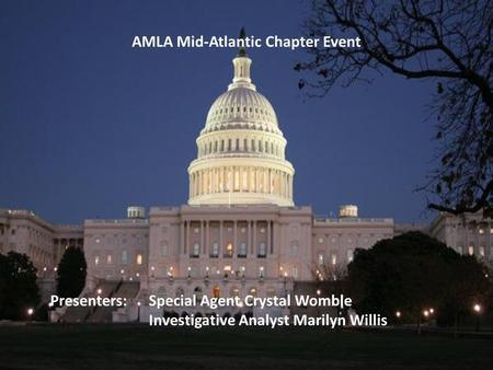 AMLA Mid-Atlantic Chapter Event