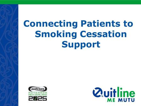 Connecting Patients to Smoking Cessation Support.