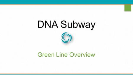 DNA Subway Green Line Overview. Growth of Sequence Read Archive (SRA) 2.2 Quadrillion bases Log Scale!