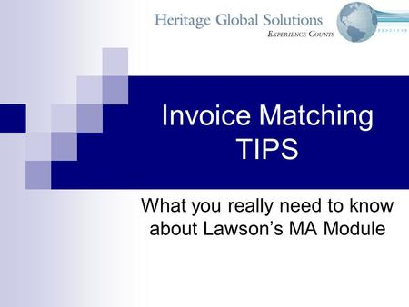 What you really need to know about Lawson's MA Module