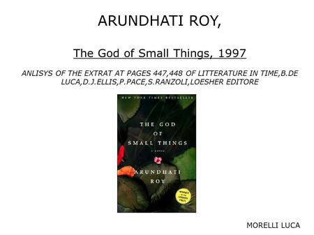 essay the god of small things