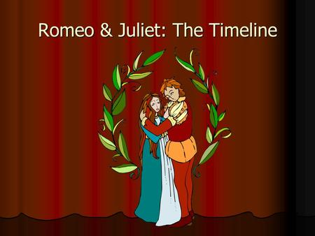 Romeo & Juliet: The Timeline. Romeus + Juliet A poem by Arthur Brook A poem by Arthur Brook Written in 1562 Written in 1562 Inspired by Ovid's Pyramus.